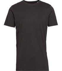 mouliné o-neck tee s/s t-shirts short-sleeved svart lindbergh