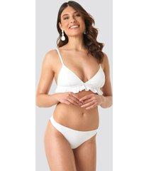 na-kd swimwear bikini panty - white