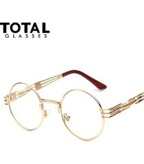 gothic steampunk sunglasses men women metal wrapeyeglasses round shades designer