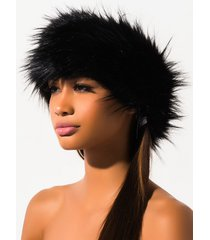 akira faux fur wrap around headband