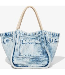 proenza schouler light acid denim l tote light acid denim one size