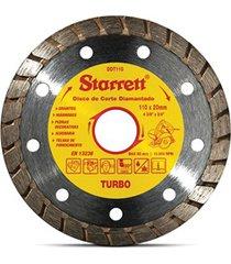 kit discos diamantados turbo de corte leve 3 pague 2 amarelo e cromado
