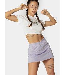 falda mini con cintura enresortada