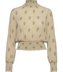 smoking blouse blus långärmad beige ivy & oak