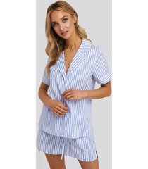 na-kd lingerie poplin cotton night shirt - multicolor