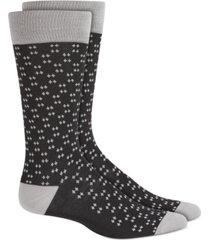 alfani men's micro diamond dot socks, created for macy's