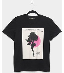camiseta forum estampada art feminina - feminino