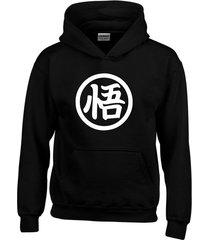 buzo estampado dragón ball goku con capota saco hoodies