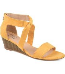 journee collection women's mattie wedges women's shoes