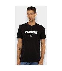 camiseta nfl oakland raiders new era 90s continues masculina