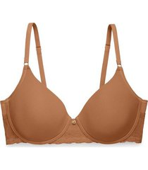 natori bliss perfection contour underwire bra, t-shirt bra, women's, brown, size 30g natori