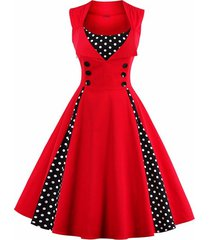 women retro 1950s 60s dress polka dots pinup rockabilly sexy party dresses