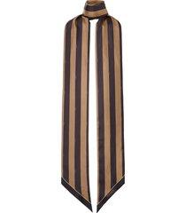 women's fendi pequin stripe wrappy silk scarf