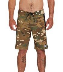 men's volcom stone alliance mod 20 board shorts, size 30 - green