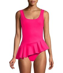 ciccinin peplum one-piece swimsuit
