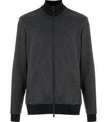 boss high-neck zip-up sweatshirt - blue