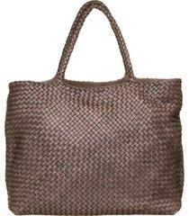 officine creative officine creative dark brown class35 braided bag
