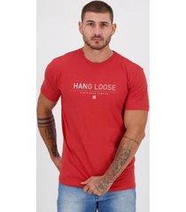 camiseta hang loose silk vermelha - masculino