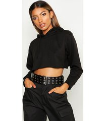 cropped oversized hoodie