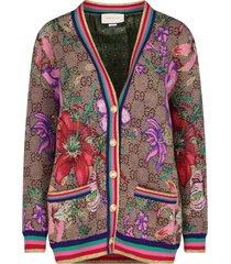 gg flora jacquard cardigan