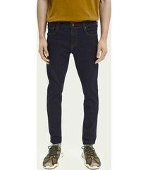 scotch & soda skim plus cropped super slim fit jeans – stay dark