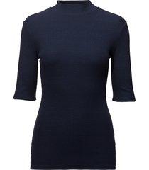 krown t-shirt blouses short-sleeved blå modström