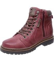 bota coturno em couro mega boots 6015 vinho - vinho - masculino - dafiti