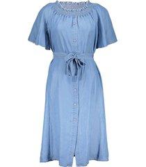 jurk buttons lysocell blauw