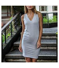 sleeveless cotton dress, 'sincerity' (indonesia)