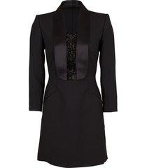 lace tux dress