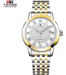 reloj mecánico multifuncional del calendario de la-dorado