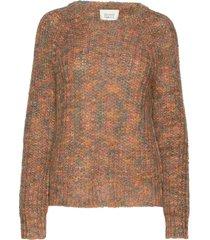 jinny knit o-neck gebreide trui bruin second female