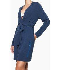 pijama feminino robe azul marinho calvin klein - m