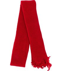 marni rib knit scarf - red