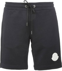 moncler logo patched ribbed shorts