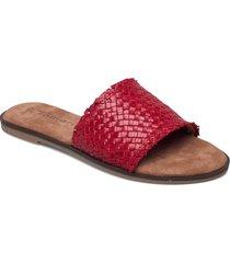 woms slides shoes summer shoes flat sandals röd tamaris
