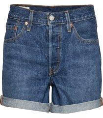 501 short long blue clue shorts denim shorts blå levi´s women