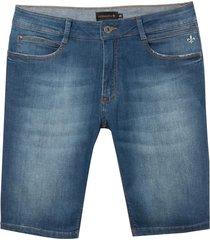 bermuda dudalina jeans stretch five pockets masculina (jeans medio, 60)