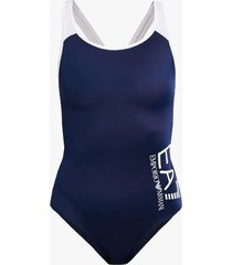 emporio armani one-piece badpak swimsuit blauw/wit