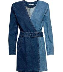 meliagz blazer dress ma20 korte jurk blauw gestuz
