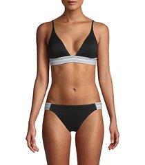 elastic triangle bikini top