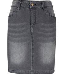 gonna termica di jeans (grigio) - john baner jeanswear