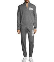 2-piece stretch-cotton track jacket & pants set