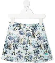 bonpoint palm-print swim shorts - blue