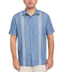 cubavera men's striped panel shirt