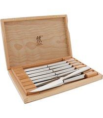 zwilling j.a. henckels 8-pc steak knife set with wood presentation case