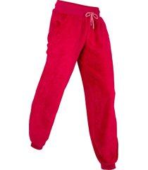pantaloni lunghi in pile livello 1 (rosso) - bpc bonprix collection