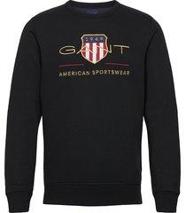 archive shield c-neck sweat-shirt trui zwart gant