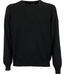 hogan black crewneck wool sweater
