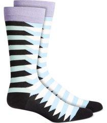 alfani men's geometric crew socks, created for macy's